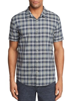 John Varvatos Star USA Plaid Regular Fit Button-Down Shirt