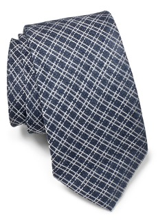 John Varvatos Star USA Plaid Silk Tie