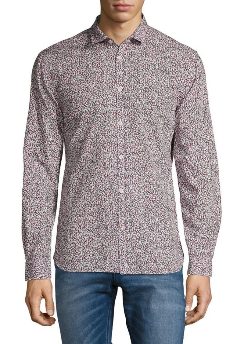 John Varvatos Star U.S.A. Printed Long-Sleeve Shirt