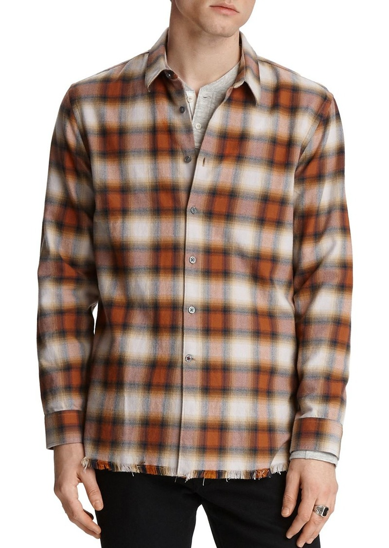 John Varvatos Star USA Randy Regular Fit Plaid Shirt