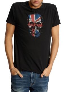 John Varvatos Star USA Raw-Edge Union Jack Skull Graphic Tee