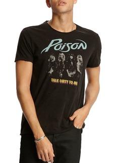 John Varvatos Star USA Raw-Edge Vintage Poison Graphic Tee
