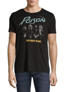 John Varvatos Star U.S.A. Raw Edge Vintage Wash Poison Talk Dirty T-Shirt