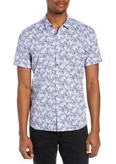 John Varvatos Star USA Regular Fit Floral Print Sport Shirt
