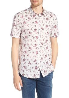 John Varvatos Star USA Regular Fit Floral Woven Shirt