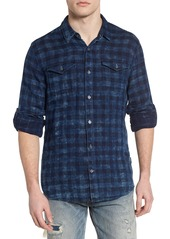 John Varvatos Star USA Regular Fit Plaid Sport Shirt