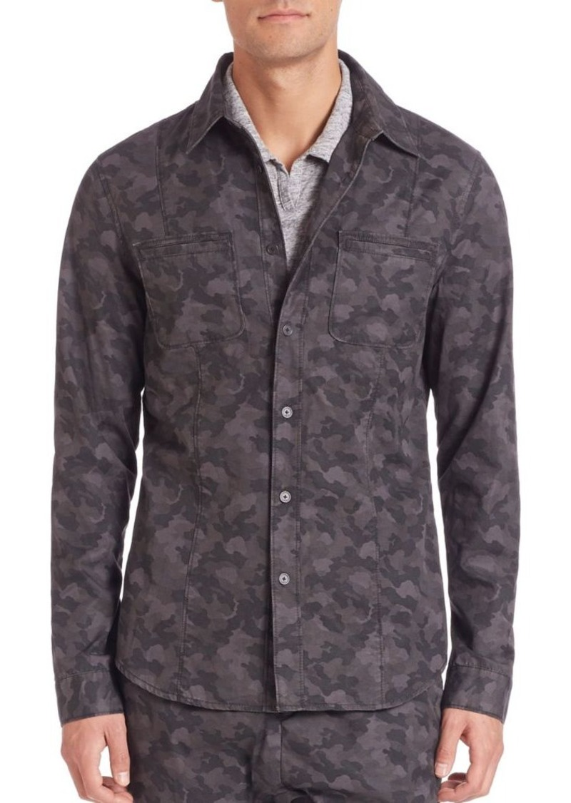 John Varvatos Star USA Reversed Seam Shirt