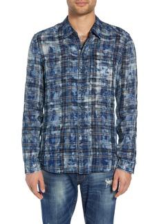 John Varvatos Star USA Reversible Plaid Shirt