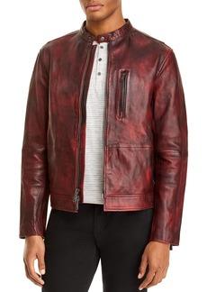 John Varvatos Star USA Reyes Sheepskin Slim Fit Racer Jacket