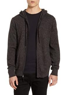 John Varvatos Star USA Richmond Cotton Blend Zip Hoodie