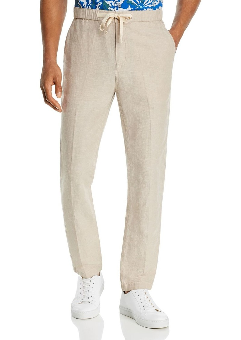 John Varvatos Star USA Robbie Drawstring Slim Fit Linen Pants
