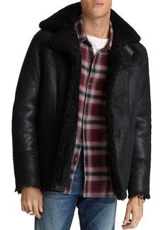 John Varvatos Star USA Roppa Regular Fit Shearling Jacket