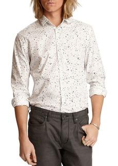 John Varvatos Star USA Ross Bluff Edge Cotton Splatter Print Slim Fit Button-Down Shirt