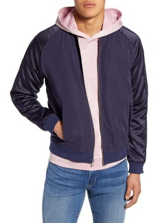 John Varvatos Star USA Satin Bomber Jacket