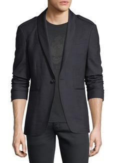 John Varvatos Satin Shawl-Collar Blazer