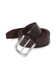 John Varvatos Scalloped Edge Leather Belt
