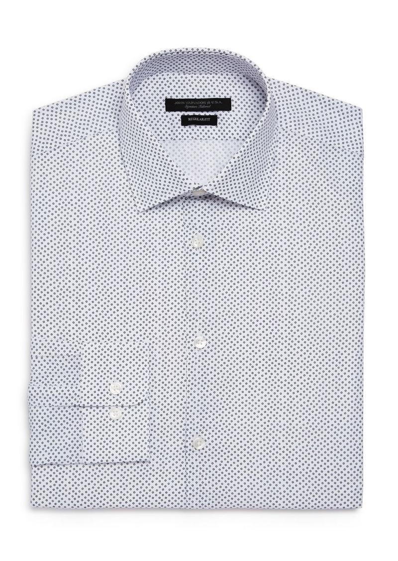 John Varvatos Star USA Scattered Print Regular Fit Dress Shirt