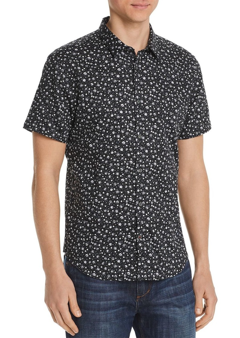 John Varvatos Star USA Short-Sleeve Floral-Print Slim Fit Shirt - 100% Exclusive