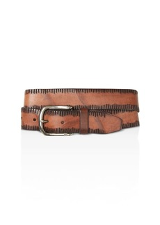 John Varvatos Star USA Side Stitch Leather Belt