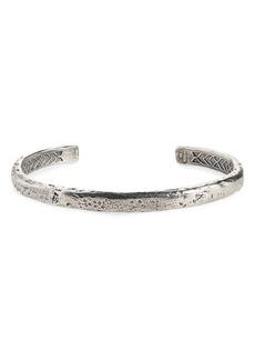John Varvatos Silver Cuff Bracelet