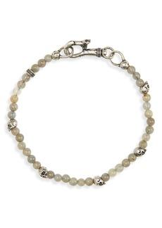 John Varvatos Skull Bead Bracelet