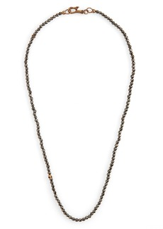 John Varvatos Skull Bead Necklace