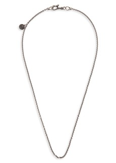 John Varvatos Skull Chain Necklace