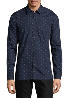 John Varvatos Skull Cotton Button-Down Shirt