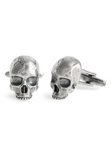 John Varvatos Skull Cuff Links