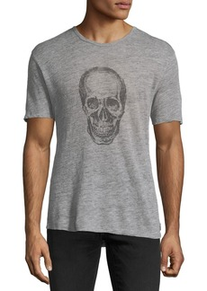 John Varvatos Skull Graphic Heathered T-Shirt