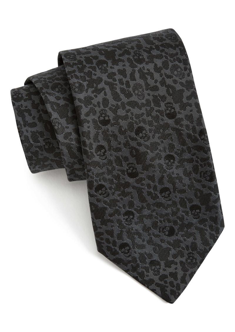 John Varvatos Star USA Skull Print Silk Tie