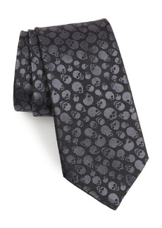 John Varvatos Star USA Skull Silk Tie