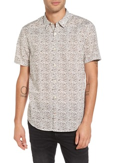 John Varvatos Star USA Slim Fit Animal Print Short Sleeve Sport Shirt