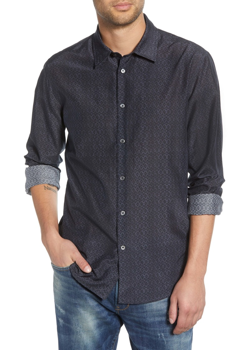 John Varvatos Star USA Slim Fit Cotton & Silk Sport Shirt