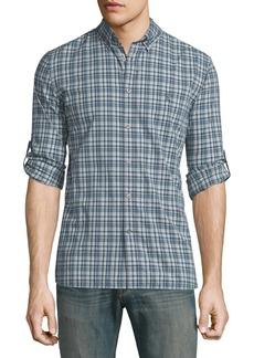 John Varvatos Slim-Fit Plaid Sport Shirt