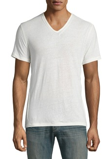 John Varvatos Slub-Knit V-Neck T-Shirt