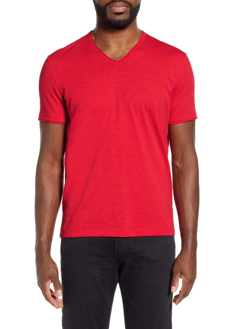 John Varvatos Star USA Slubbed V-Neck T-Shirt