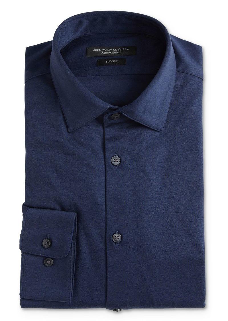 John Varvatos Star USA Soho Jersey Slim Fit Dress Shirt