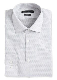 John Varvatos Star USA Soho Textured Dot Slim Fit Dress Shirt