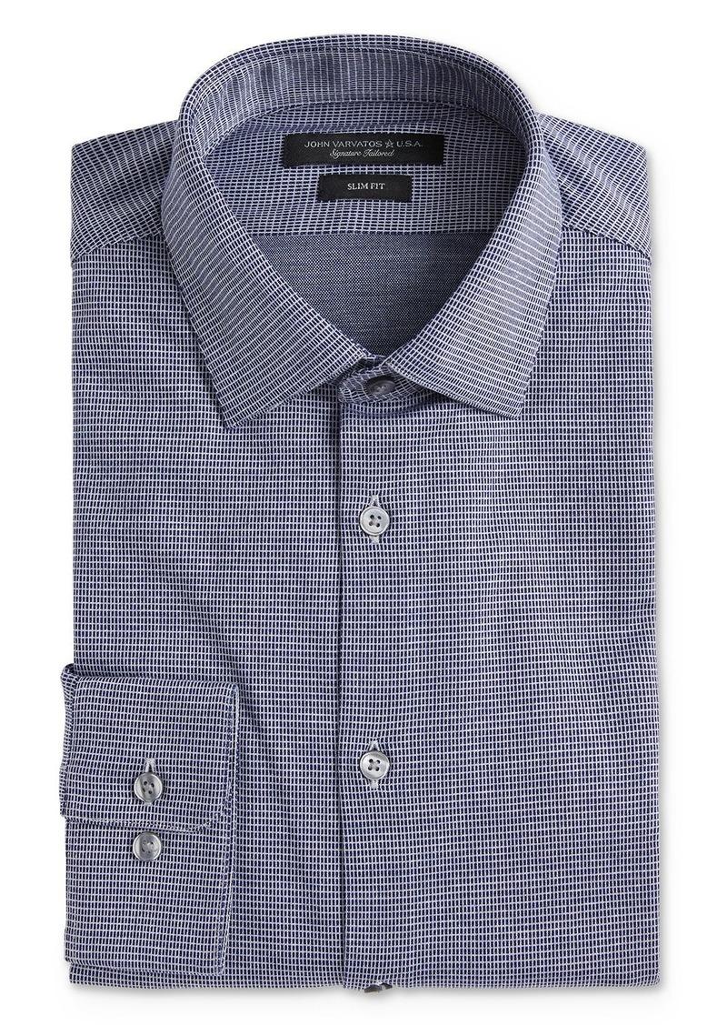 John Varvatos Star USA Soho Textured Jersey Slim Fit Dress Shirt