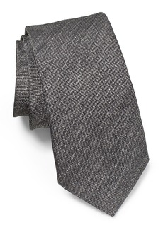 John Varvatos Star USA Solid Linen & Silk Tie