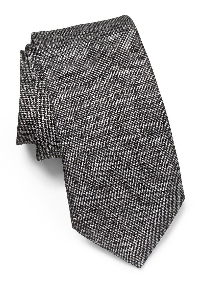 John Varvatos Star USA Solid Linen & Silk Tie