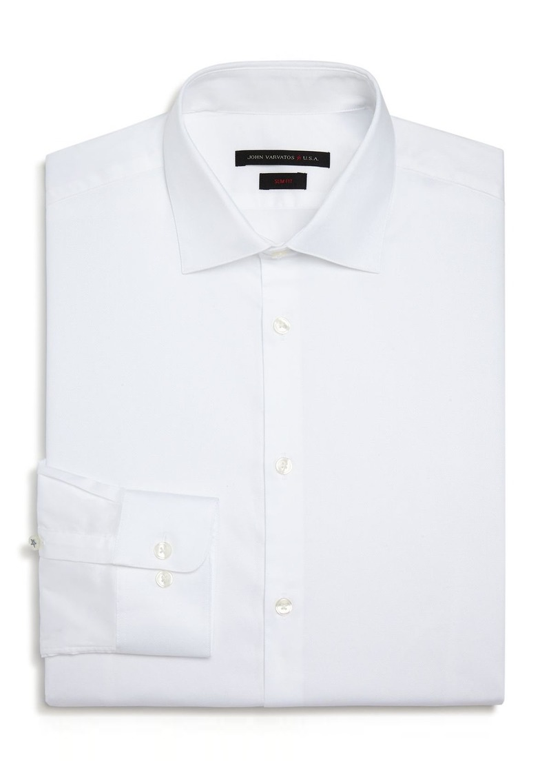 John Varvatos Star USA Solid Slim Fit Dress Shirt