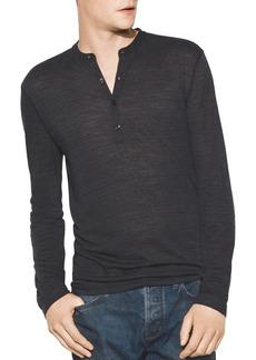 John Varvatos Star USA Space-Dyed Long-Sleeve Henley