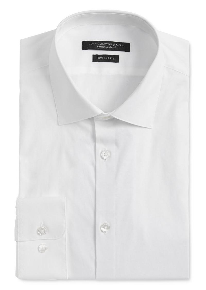 John Varvatos Star USA Spencer Contrast-Placket Regular Fit Dress Shirt
