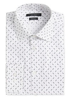John Varvatos Star USA Spencer Dot Print Slim Fit Dress Shirt