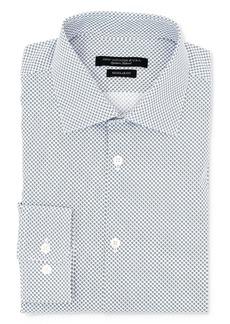 John Varvatos Star USA Spiral Print Wrinkle-Resistant Regular Fit Dress Shirt