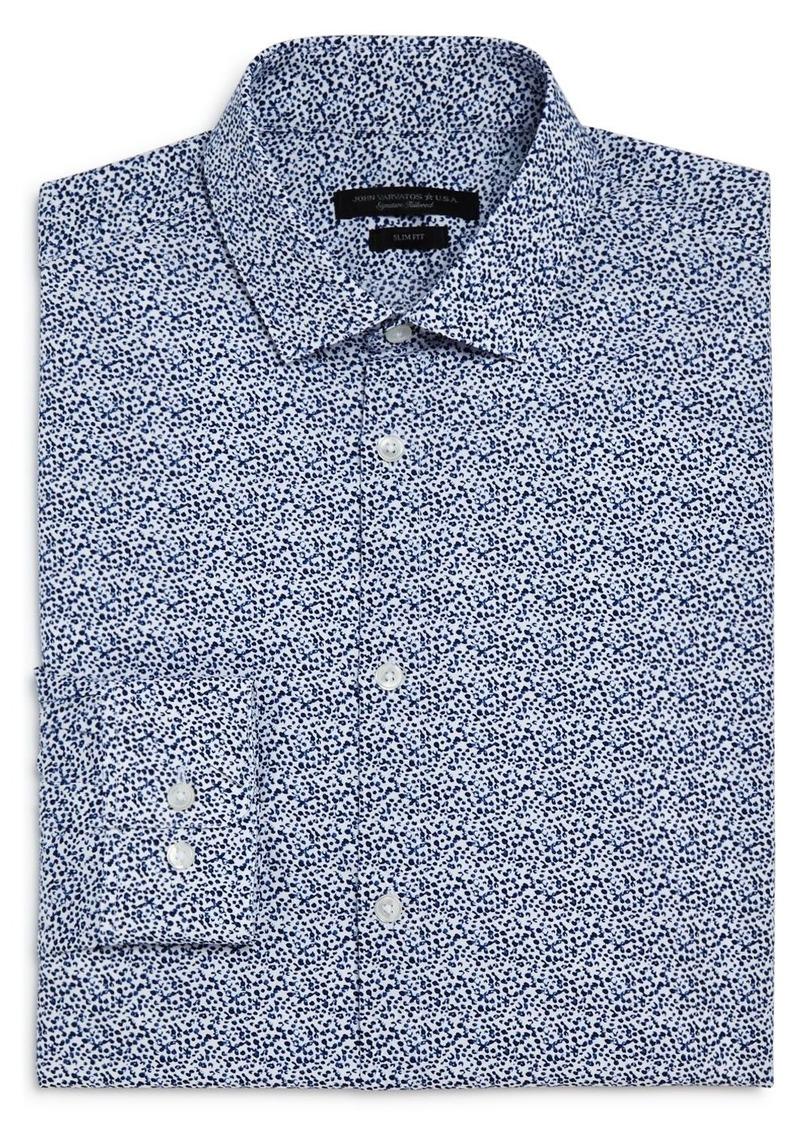 John Varvatos Star USA Splatter Print Slim Fit Dress Shirt