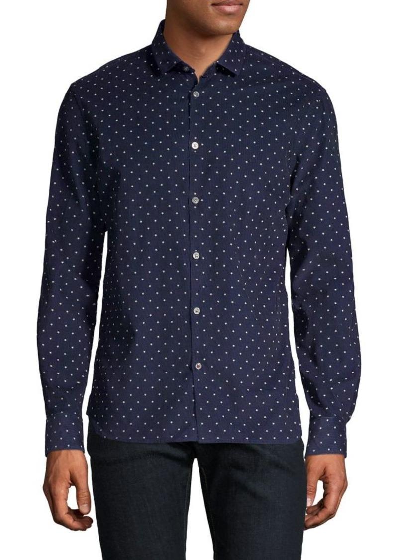 John Varvatos Star U.S.A. Star-Print Long-Sleeve Shirt