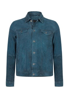 John Varvatos Star USA Steven Leather Trucker Jacket